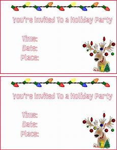 Printable Christmas Party Invitations Free Templates Free Christmas Cards Santa Claus Christmas Invitations