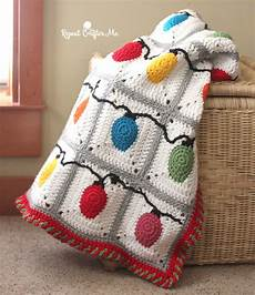 Crochet Christmas Lights Crochet Christmas Lights Blanket Repeat Crafter Me