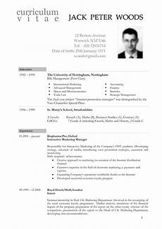 Sample Of A Cv Format Cv Template Us Cvtemplate Template Resume Template