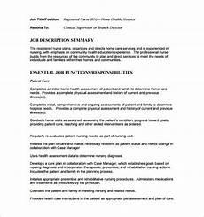 Nursing Supervisor Job Description Registered Nurse Job Description Template 8 Free Word