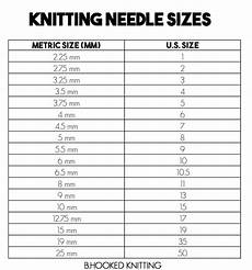 knitting needle sizes us and metric conversion chart
