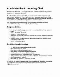 Job Description For Accounting Clerk 12 13 Cover Letter Sample For Bookkeeping Clerk