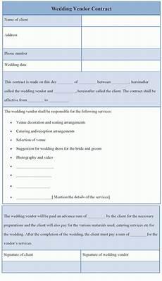 Wedding Vendor Checklist Template Wedding Vendor Template Wedding Vendor Contract Sample
