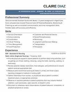 Aged Care Resume Samples Yaandina Aged Care Endorsed Enrolled Nurse Resume Sample