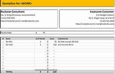 Spreadsheet Quotes Free Excel Quotation Templates Prepare And Print