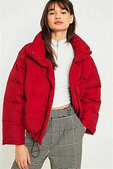 Light Blue Puffer Jacket Urban Outfitters Women S Puffer Jackets Hooded Amp Cropped Padded Coats