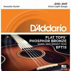Light Gauge Flatwound Guitar Strings D Addario Eft15 Flat Tops 10 47 Extra Light Acoustic