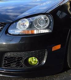 Vw Golf Gti Lights 06 09 Vw Golf Mk5 Yellow Fog Light Overlays Vinyl Tint