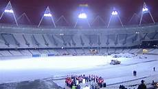 London Olympic Stadium Lights London 2012 Olympic Stadium Floodlights Switched On Bbc News