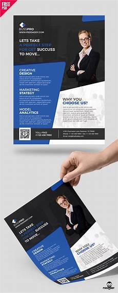 Business Advertisement Template Download Business Flyer Template Free Psd Psddaddy Com