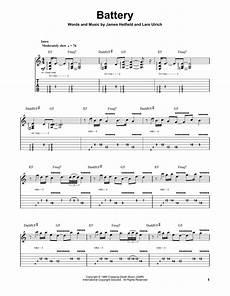 Mettalica Guitar Tab Battery By Metallica Guitar Tab Play Along Guitar