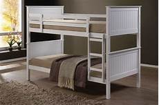 jade fixed ladder white king single bunk beds nz