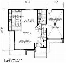 contemporary style house plan 50354 with 3 bed 2 bath 1