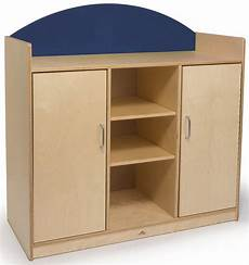 rainbow birch laminate storage cabinet with open and