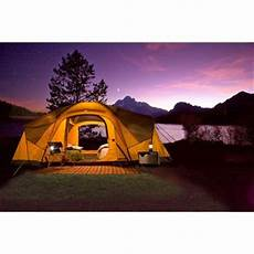 camping tent with built in lights the coleman canyon breeze tent sleeps 10 people and has a