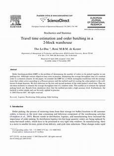 Travel Estimator Pdf Travel Distance Estimation And Storage Zone