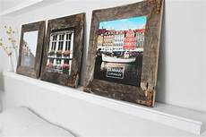 come fare cornici per quadri evejulien easy diy rustic industrial picture frame