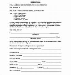 Bidding Proposal Template 16 Free Construction Bid Proposals Pdf Word Free