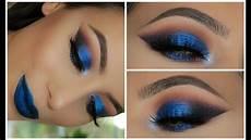 metallic blue smokey eye amys makeup box
