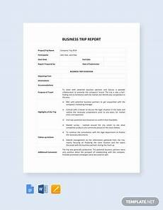 Business Trip Report Template Word Free 18 Sample Trip Reports In Ms Word Apple Pages Pdf