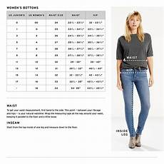 Levis Size Chart Women S Levi S 174 Classic Midrise Skinny Jeans