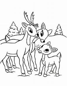 rudolph coloring pages team colors