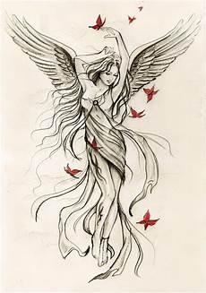 Female Angel Designs Guardian Angel Tattoos For Women Angel Designs1