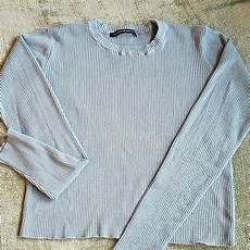 Melville Light Blue Sweater Melville Sweaters Light Blue Cropped Sweater