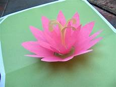 pop up card template flowers how to lotus pop up card make