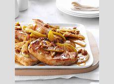 Cinnamon Apple Pork Chops Recipe   Taste of Home