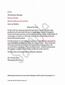 Letter Of Intent For Loan Application Sample Loan Application Letter