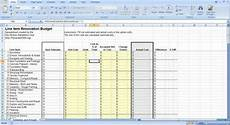 House Renovation Costs Spreadsheet Renovation Construction Budget Spreadsheet Implementing