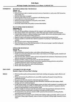 Process Technician Resumes Pipeline Technician Resume Sample June 2020