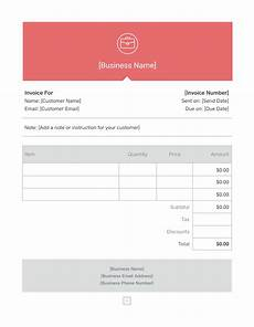 Free Invoice Word Template Invoice Template Generate Custom Invoices Square