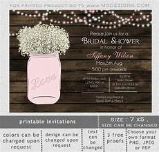 printable bridal shower invitation template rustic bridal