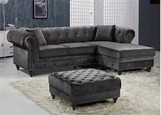Grey Velvet Sofa 3d Image by Sabrina Sectional Sofa 667 In Grey Velvet Fabric By Meridian