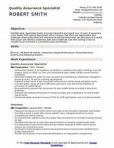 Quality Assurance Resume Samples Quality Assurance Specialist Resume Samples Qwikresume