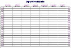 Schedule Book Template Importance Of Appointment Schedule Small Business
