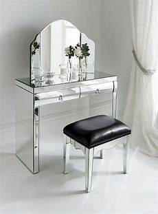 glass mirrored dressing table design inspiration for