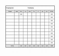 Free Excel Time Sheet Template 40 Free Timesheet Time Card Templates Template Lab