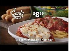 Early Dinner Duos at Olive Garden   YouTube