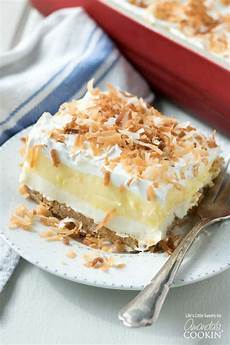 desserts coconut coconut lush an easy light and one pan