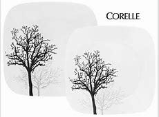 CORELLE Square TIMBER SHADOWS Choose: DINNER or LUNCH