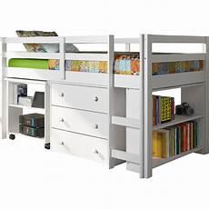low loft bed with storage wayfair
