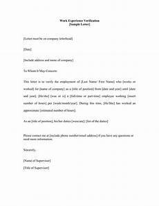 Work Letter 14 Employment Verification Letter Examples Pdf Doc