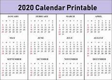 Basic Calendar 2020 Free Printable Calendar 2020 Template In Pdf Excel Word