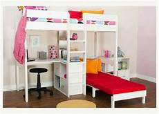high sleeper bunk bed with desk and sofa bed underneath