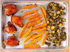 Barbecue Chicken and Brussels Sprout Sheet Pan Dinner