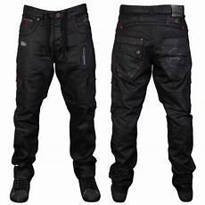 Mens Fit Designer Jeans Uk Mens Black Rawcraft Leto Designer Straight Fit Denim Jeans