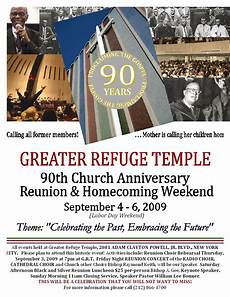 Church Homecoming Theme Ideas Greater Refuge Temple New York City 90th Church